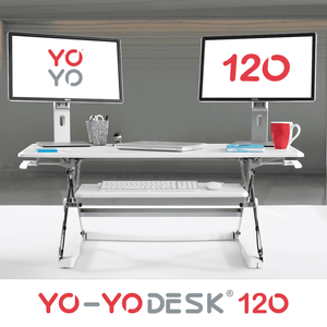 Yo-Yo DESK 120 Front View White