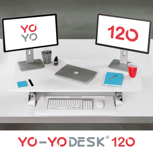 Yo-Yo DESK 120 Top View White