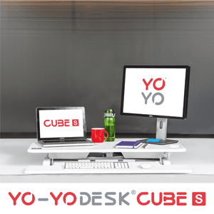 Yo-Yo DESK CUBE-S White Front View Folded