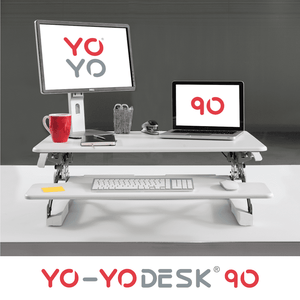 Yo-Yo DESK 90 White Front View