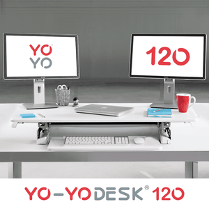 Yo-Yo DESK 120 Folded Front View White