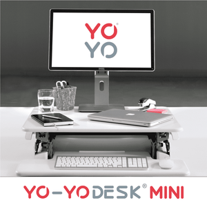 Yo-Yo DESK MINI White Front View Folded