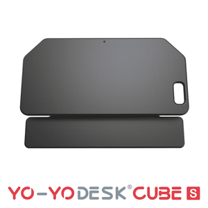 Yo-Yo DESK CUBE-S Black Side View Folded