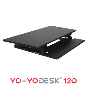 Yo-Yo DESK 120 Side View Fold