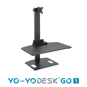 Yo-Yo DESK GO 1 Black Side View