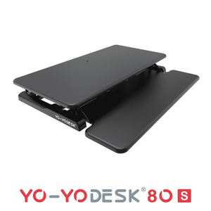 Yo-Yo DESK 80-S Black Folded View