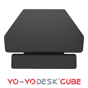 Yo-Yo DESK CUBE Black Side View Folded