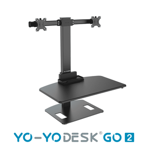 Yo-Yo DESK GO 2 Black Side View