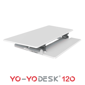 Yo-Yo DESK 120 Side View Folded White