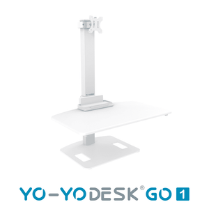 Yo-Yo DESK GO 1 White Side View