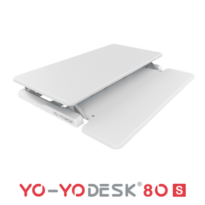 Yo-Yo DESK 80-S White Folded View