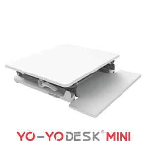 Yo-Yo DESK MINI White Side View Folded