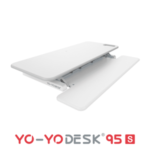 Yo-Yo DESK 95-S White Side View Folded