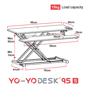 Yo-Yo DESK 95-S Side View Measurement