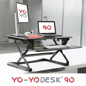 Yo-Yo DESK 90 Black Side View