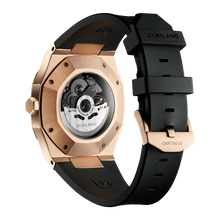 Load image into Gallery viewer, D1 MILANO SKELETON RUBBER 41.5MM Rose Gold SKRJ03
