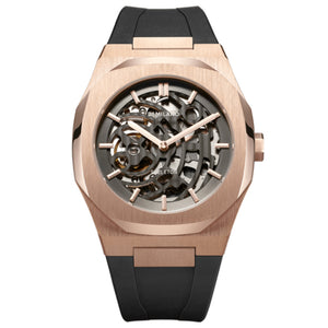 D1 MILANO SKELETON RUBBER 41.5MM Rose Gold SKRJ03