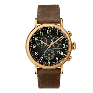 TIMEX Standard Chronograph Gold-Tone Brass Watch TW2T20900
