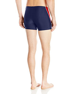Speedo Men's Fitness Splice Square Leg, Navy, Large