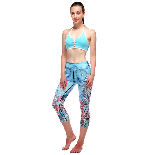 High Quality Women Yoga Sport Pants Printed Legging Sport High Waist Woman tight Leggings #E0