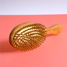 Natural Bamboo Anti-Static Wooden Bristles Massage Scalp Comb Hair Brushes Hair Care Wood Beard Comb Nursing Scalp Hair Comb