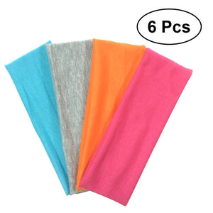 Stretchy Cotton Yoga Headbands 6 pieces