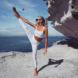 Women Yoga Fitness Leggings Running Gym Stretch Sports Pants Trousers