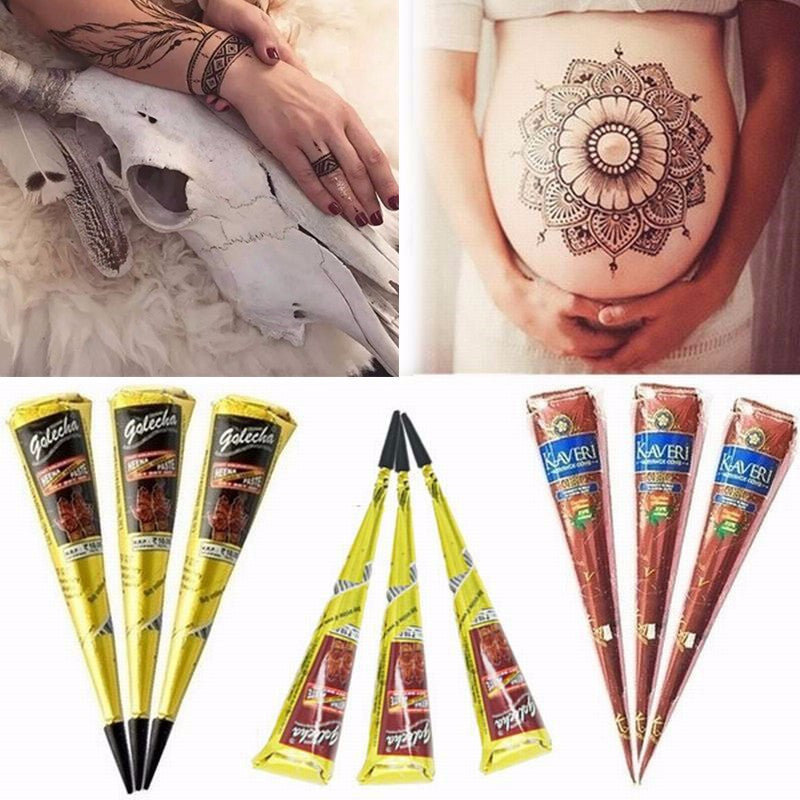 Diy Drawing Body Art Cosmetic Henna Painted For Party