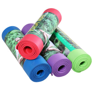 Black Anti-skid Yoga Mat 10mm Thick