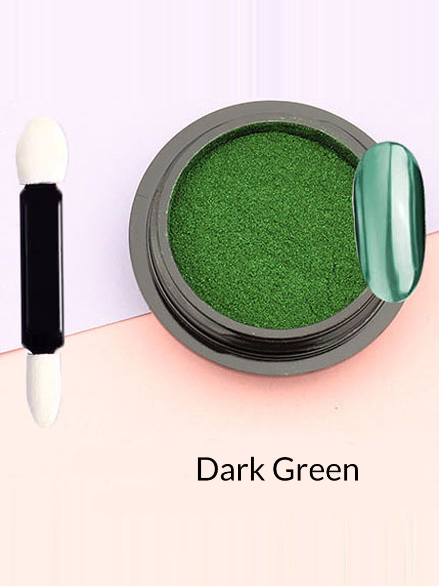 dark green mirror powder