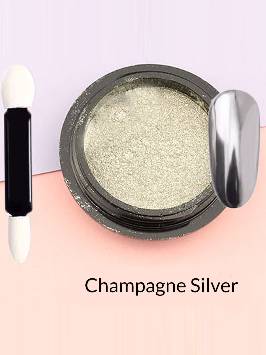 champagne silver mirror powder