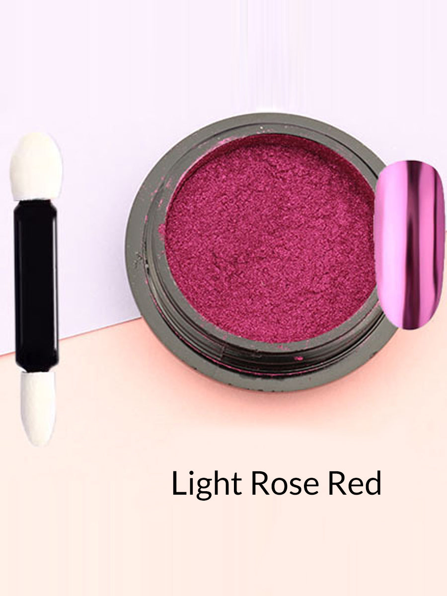 light rose red mirror powder