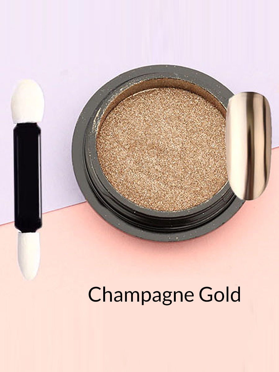 champagne gold mirror powder