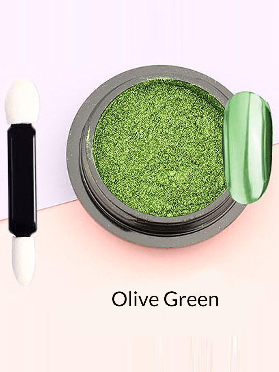 olive green mirror powder