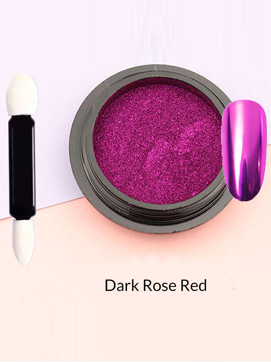 dark rose red mirror powder