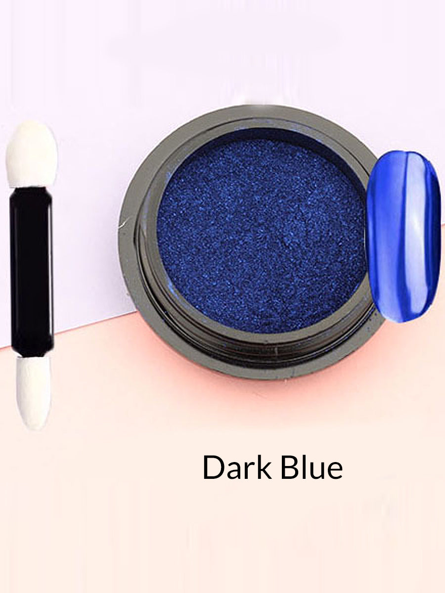 dark blue mirror powder