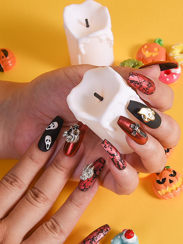 acrylic nails coffin short