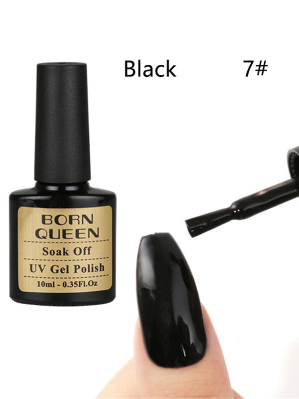 black cat eye nails