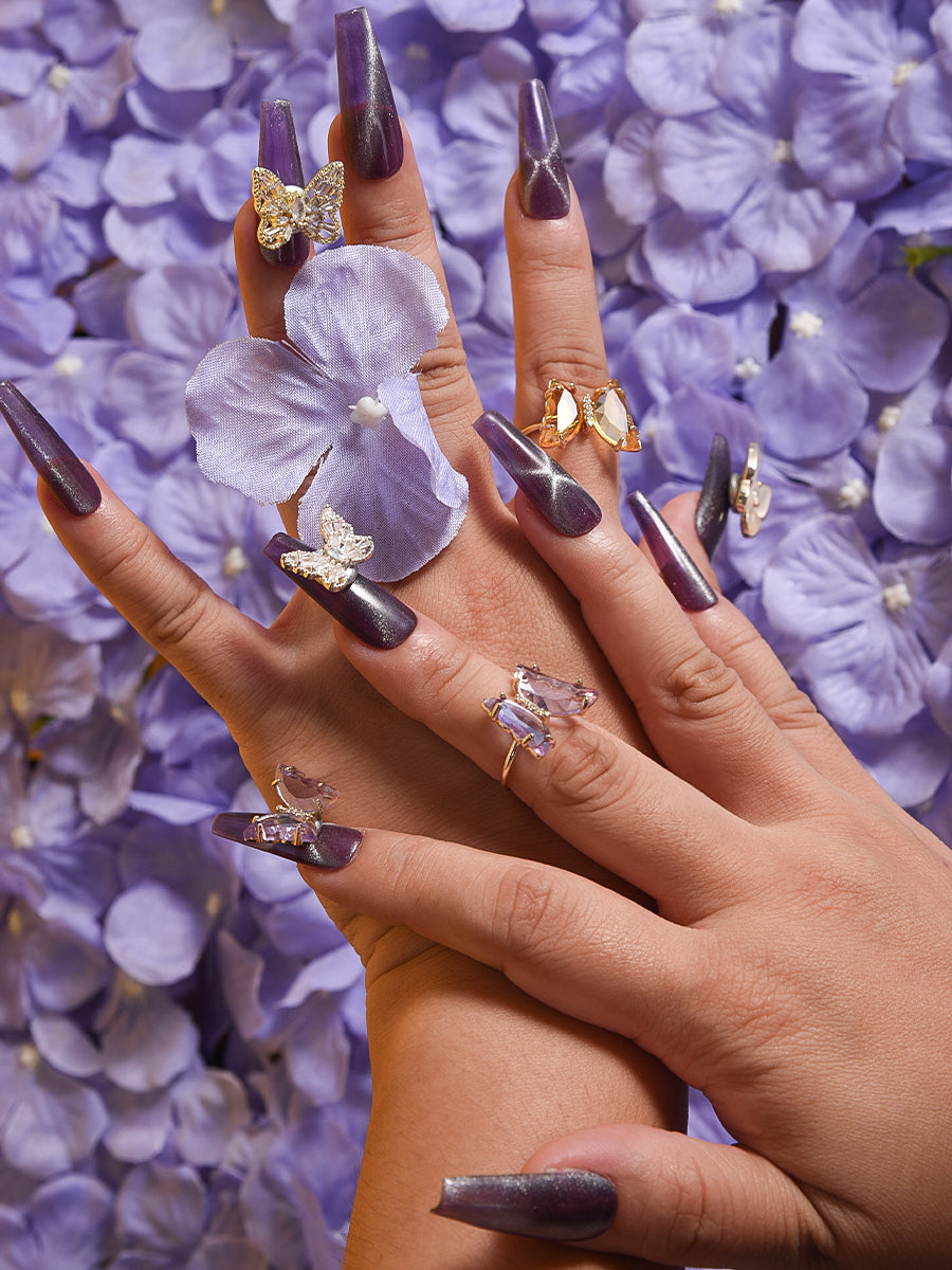 butterflies for nails