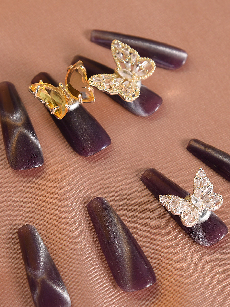 butterfly coffin nails