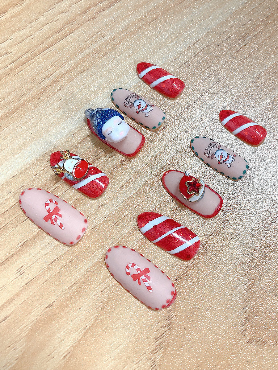 Christmas Nails with Changeable Baby Dolls