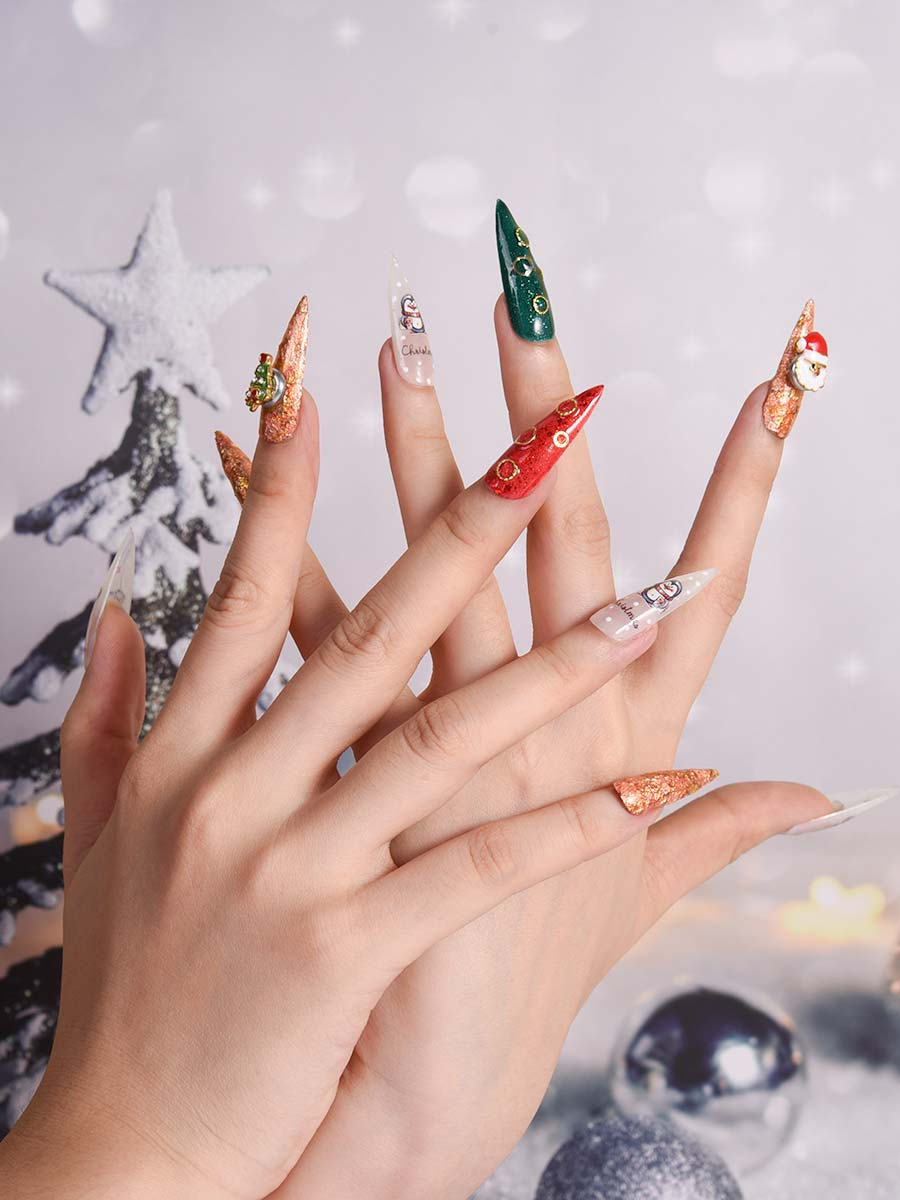 coffin christmas nails
