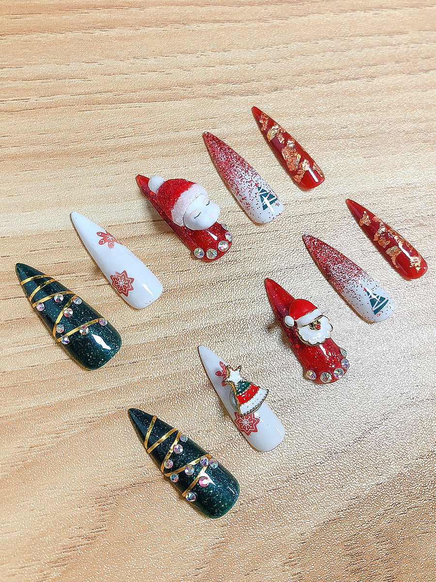 custom christmas nails