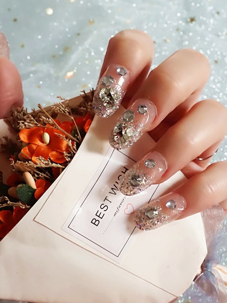 glitter wedding nails