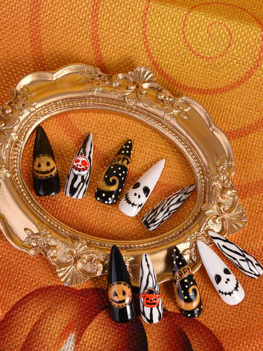 halloween acrylic nail designs