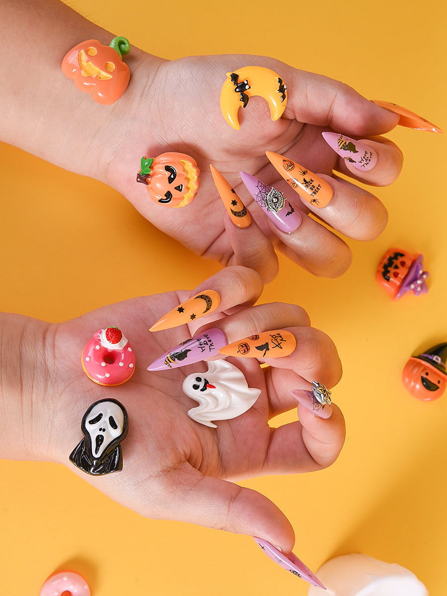 halloween themed acrylic nails