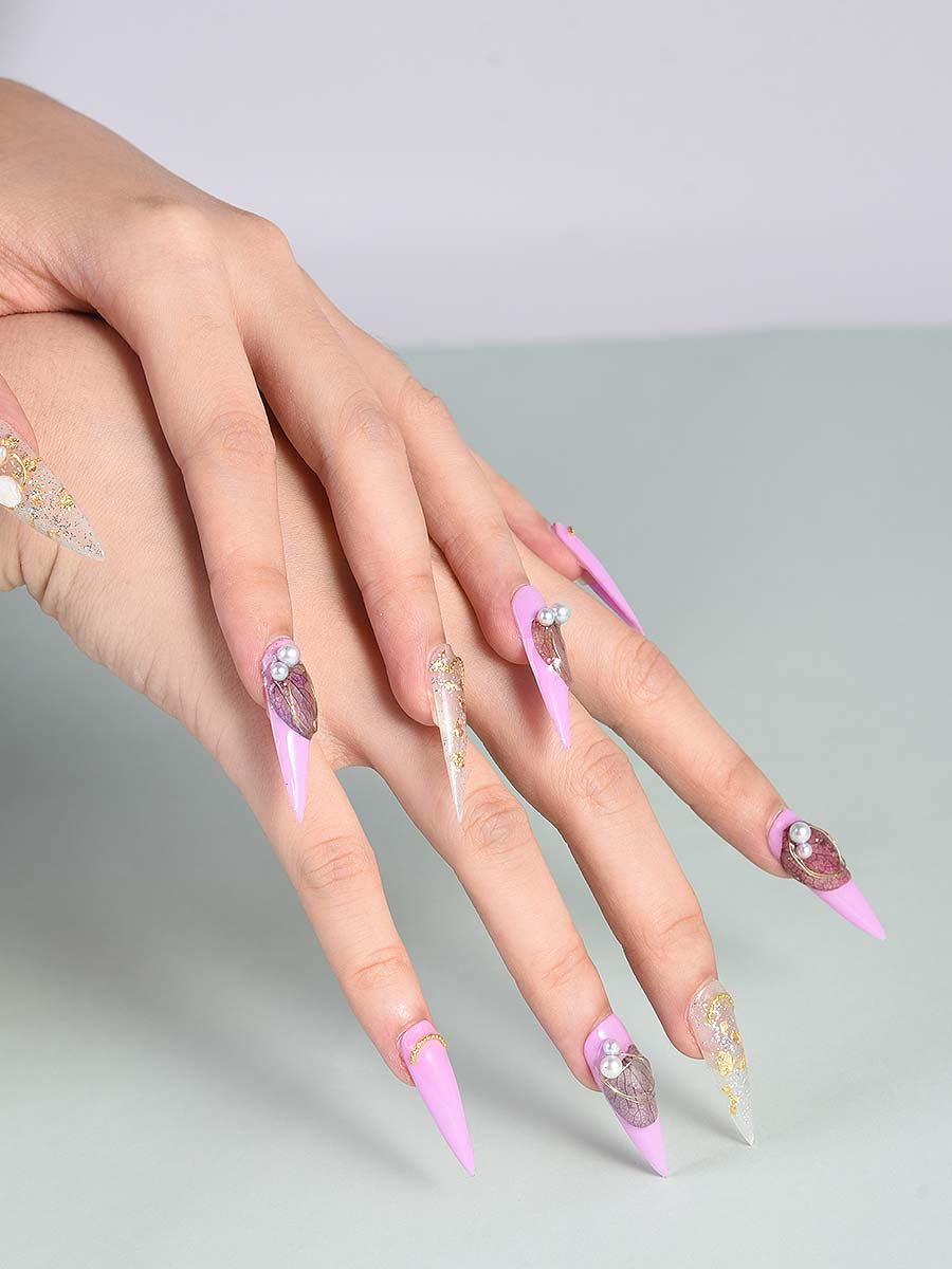 long glue on nails