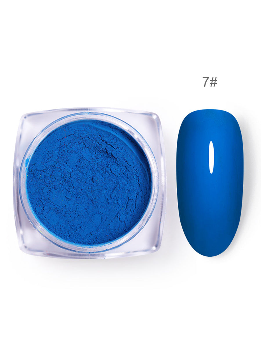 luminous blue nail polish