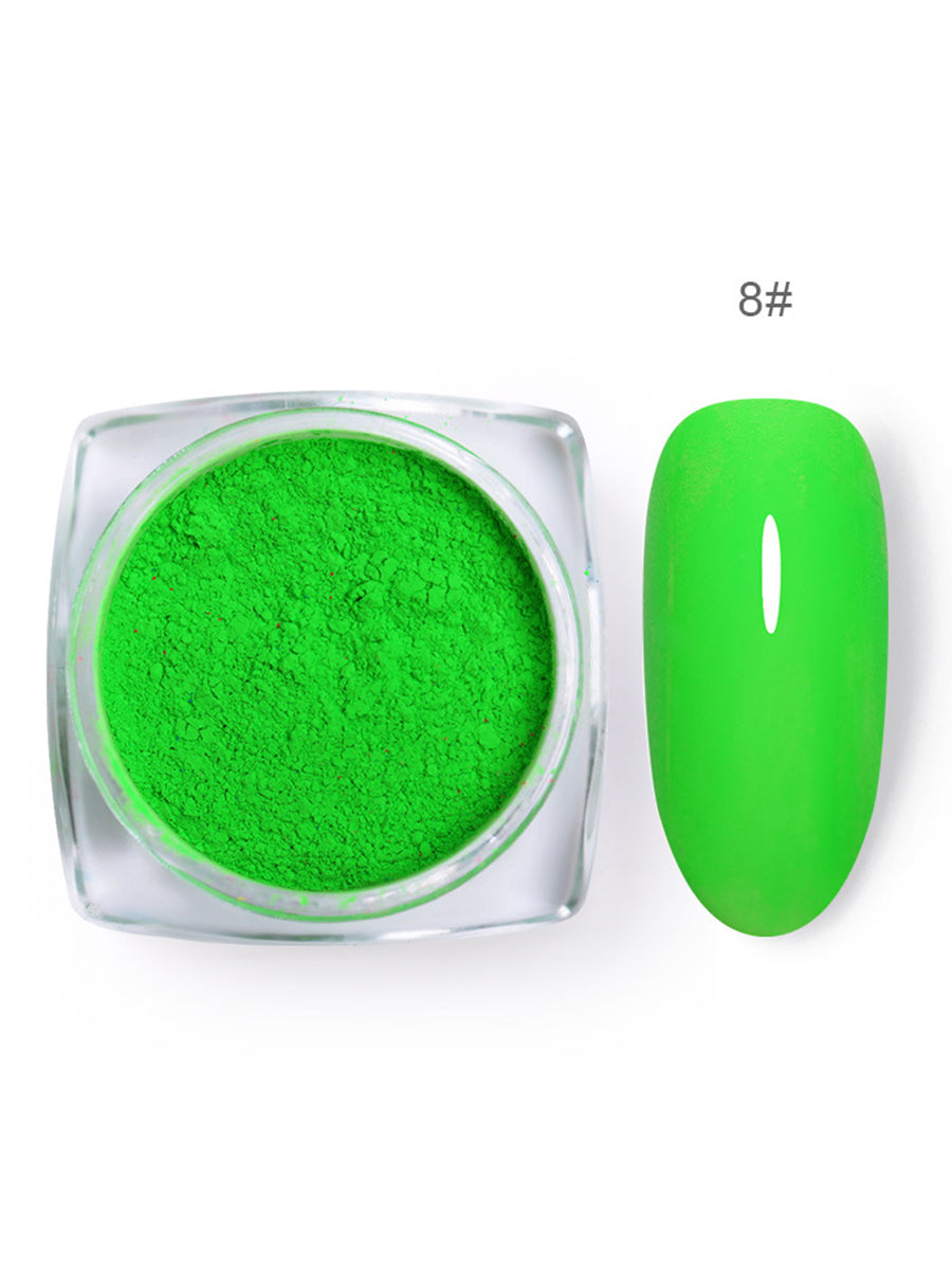 luminous green nail polish