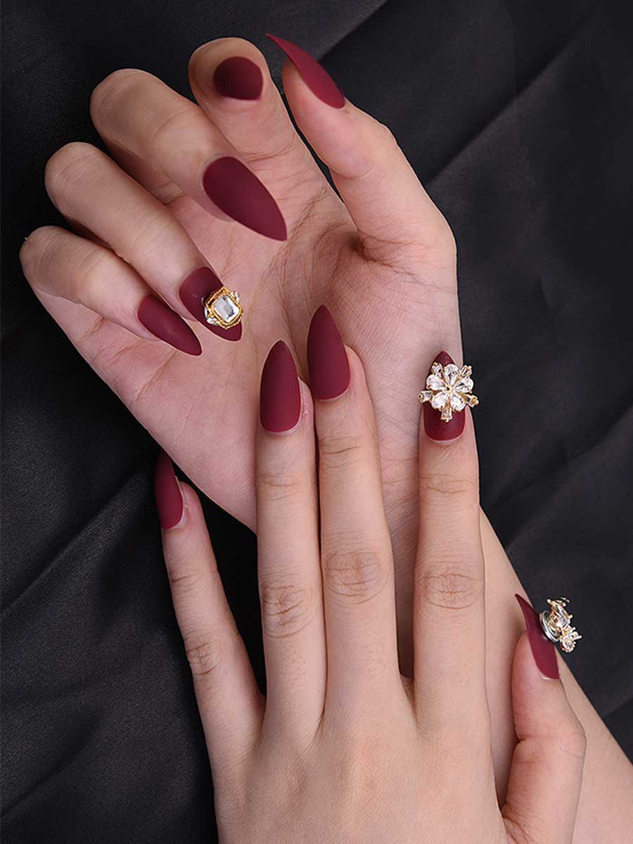 stiletto glue on nails